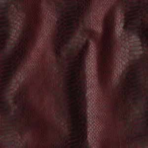 Amanda & Chelsea Skirts - Red Maroon Snake Print Faux Leather Mini Skirt